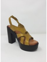 Raquel Perez sandalo pelle tacco alto 12cm sottopiede memory gel disponibile in 3 colori
