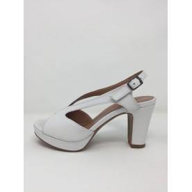 Sandalo pelle elegante tacco 9 plateau disponibile in 2 colori