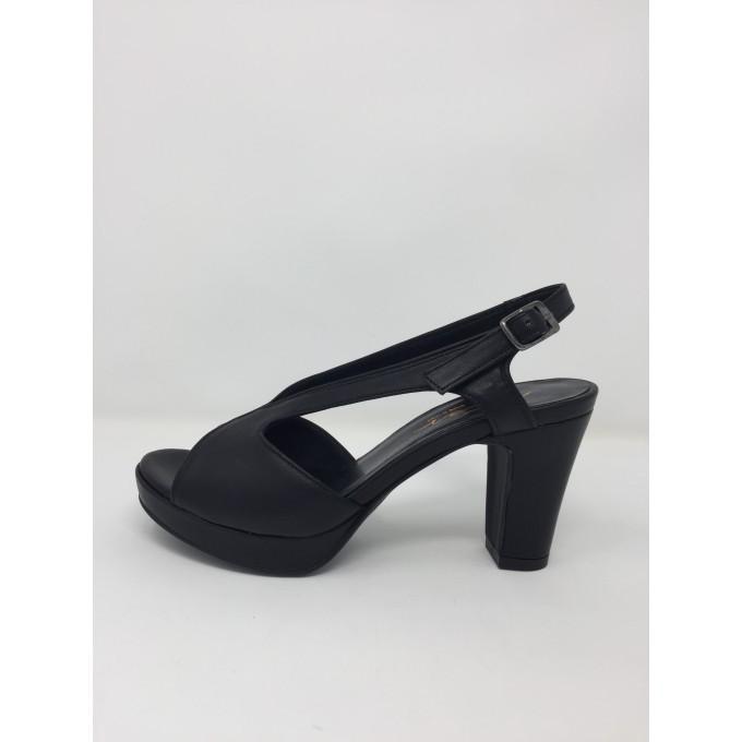Sandalo pelle elegante tacco 9 plateau