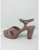 Sandalo camoscio elegante tacco 9 plateau disponibile in 3 colori