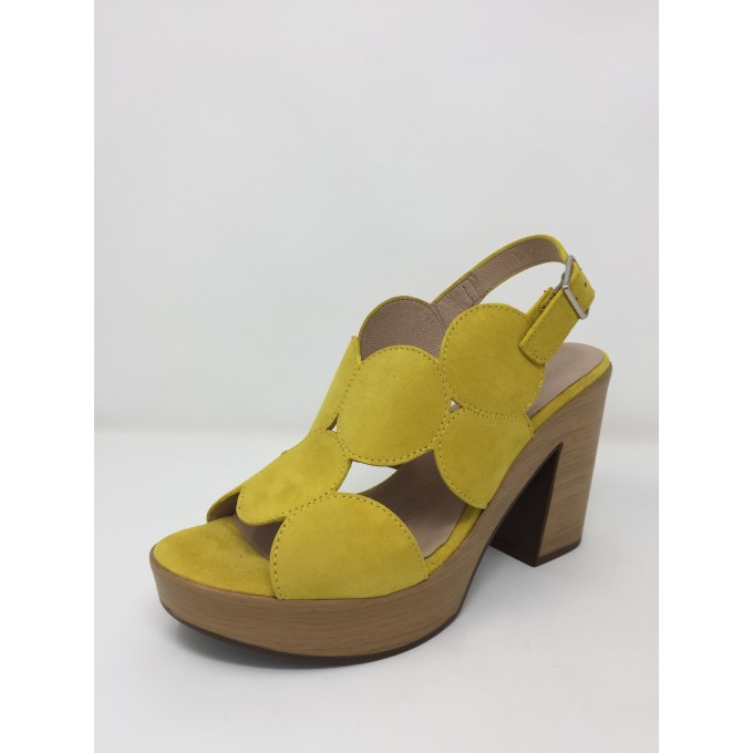 Wonders sandalo camoscio tacco 10 comodissimo