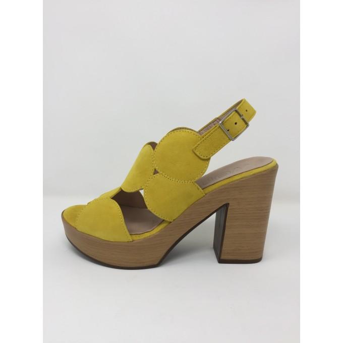 Camoscio Disponibile Tacco In Wonders Sandalo Colori Comodissimo 10 Due 35jc4RALq
