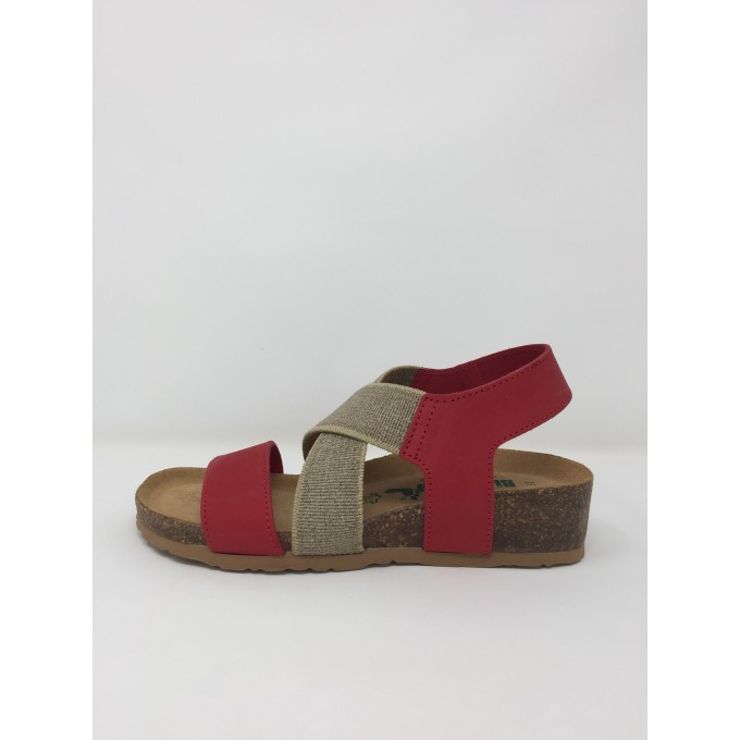 Bionatura sandalo con fasce incrociate disponibile in 3 colori zeppa comoda