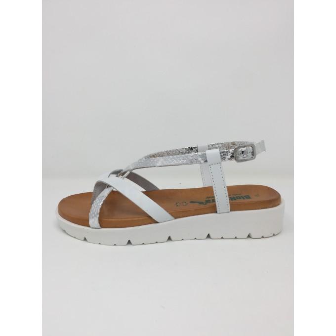 Bionatura sandalo infradito disponibile in 2 colori zeppa 4cm