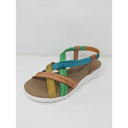 Sandalo Fiori Mercante Disponibile In 3 Colori Di Fasce Incrociate L3qA54Rj