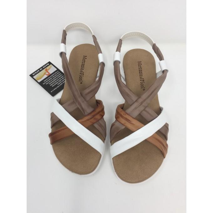 Mercante di Fiori sandalo fasce incrociate disponibile in 3 colori