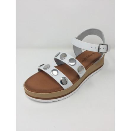 Mercante di Fiori sandalo borchie disponibile in 2 colori zeppa cm4