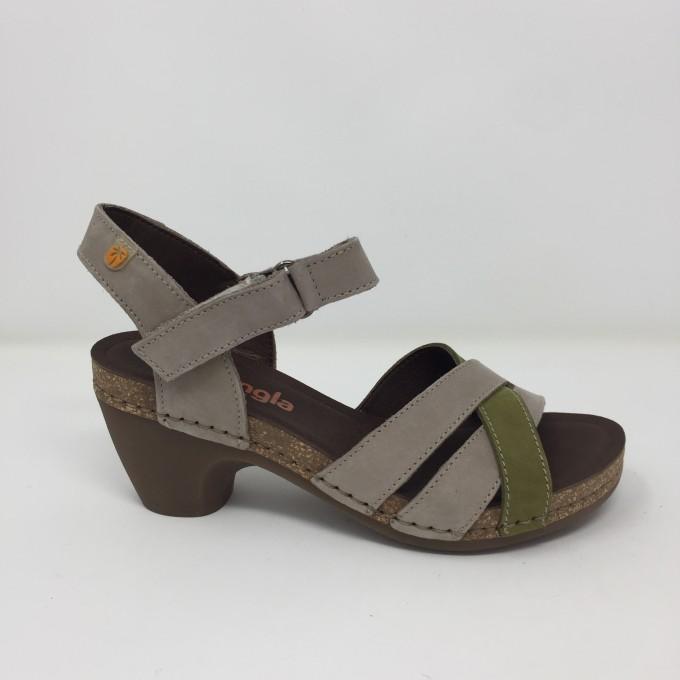 jungla sandalo in nabuk tacco cm 7.5 disponibile in 2 colori