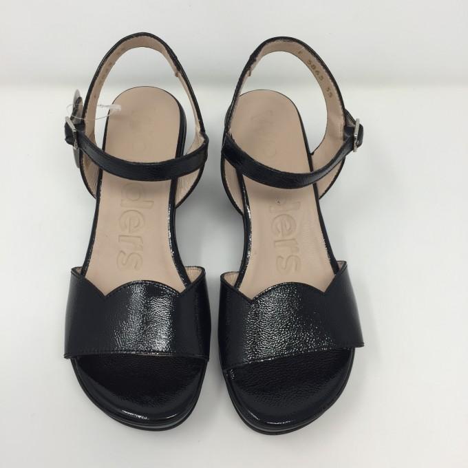 Wonders sandalo pelle lucida tacco 8 disponibile in 2 colori