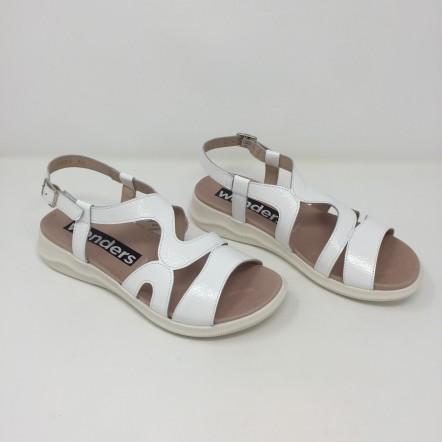 Wonders sandalo pelle lucida comodo tacco 3,5 disponibile in 2 colori
