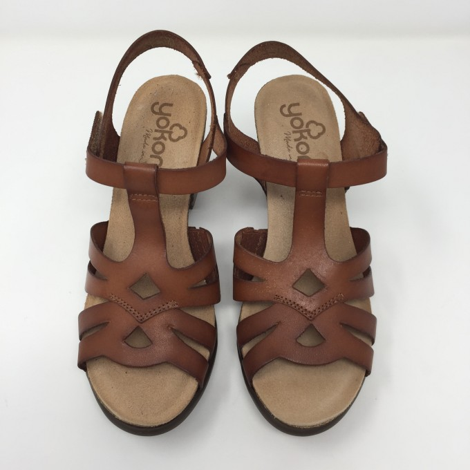 Yokono sandalo in pelle tacco 9 comodissimo e femminile 3 colori