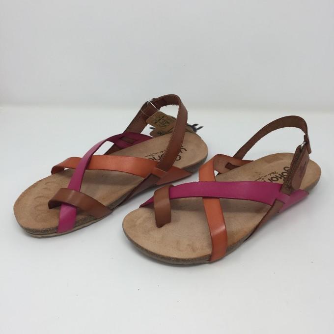 Yokono sandalo infradito in pelle colorata 2 colori