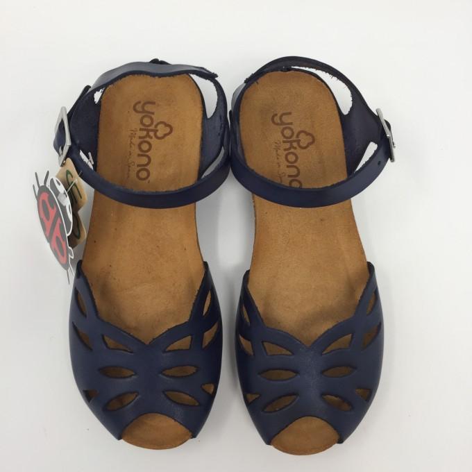 Yokono sandalo pelle punta semichiusa 2 colori comodo