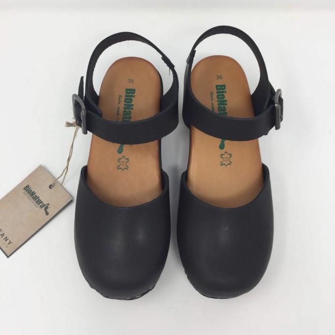 Bionatura sandalo pelle punta chiusa sottopiede memory