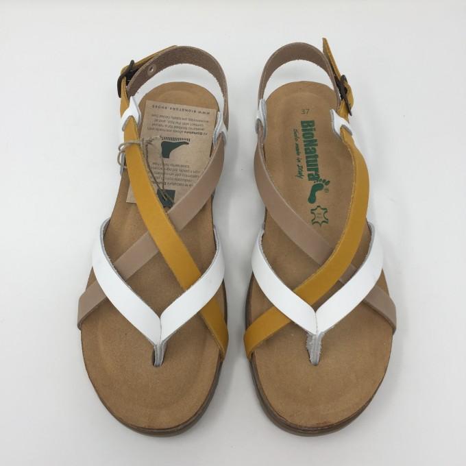 Bionatura Sandalo infradito in pelle comodo