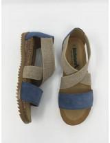 Sandalo Incrociato Con Copritallone