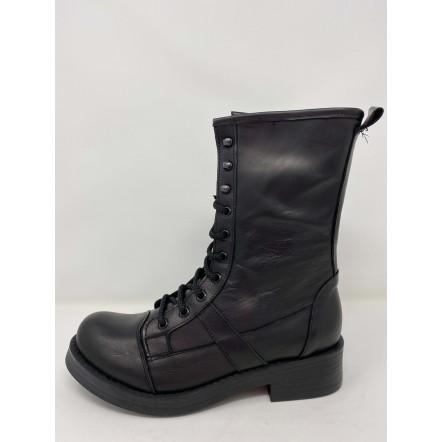 Deky Shoes Stivaletto Anfibio Pelle Lacci
