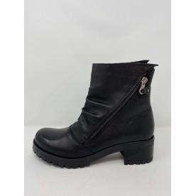 Deky Shoes Tronchetto In Pelle Doppia Zip