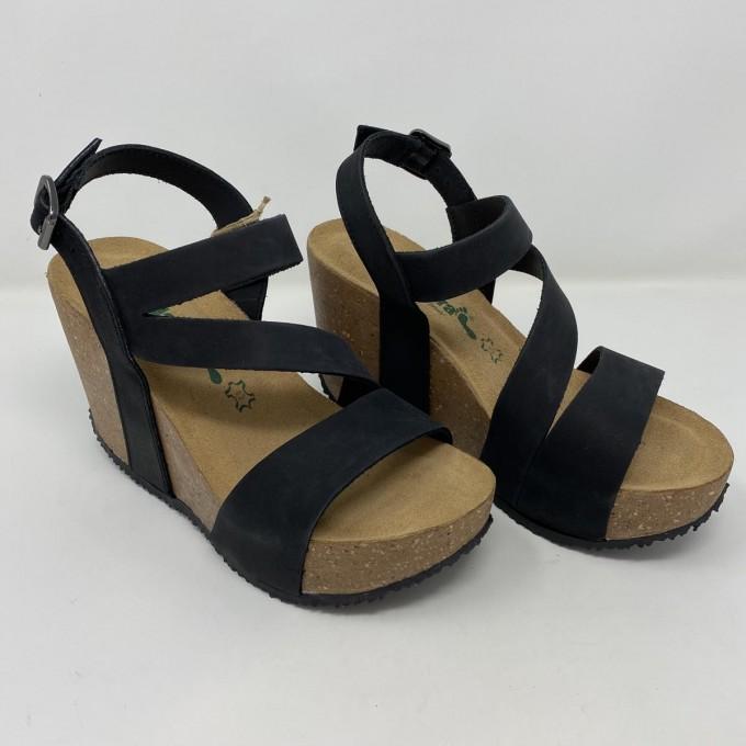 Bionatura sandalo zeppa 10cm comodissima