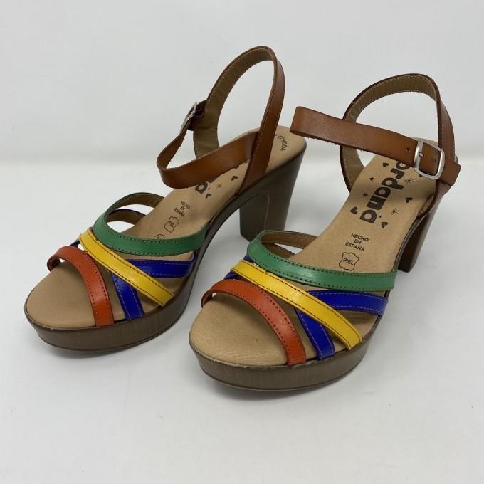 Jordana sandalo multicolor tacco cm 8,5