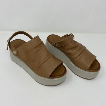 Woz Sandalo Moda In Pelle Con Zeppa