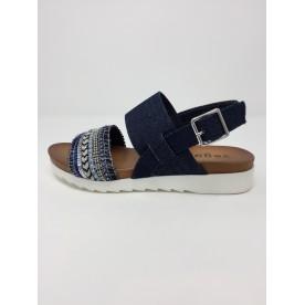 Sandalo doppia fascia jeans