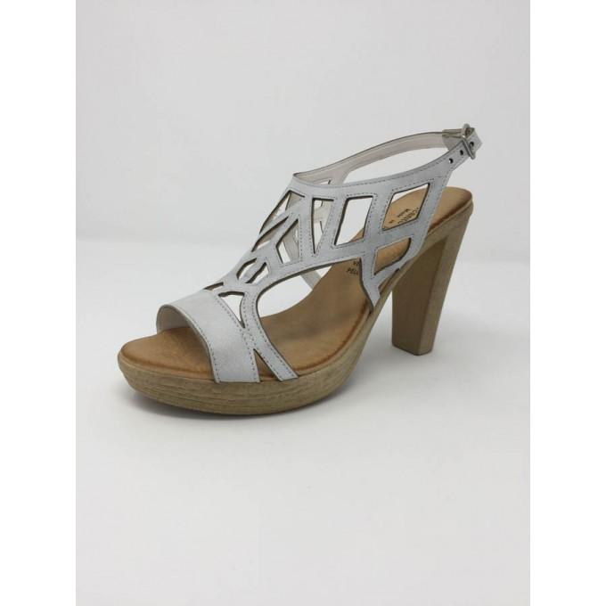 Sandalo pelle incrociata