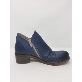 Deky Shoes scarpa moda, doppia zip, tacco comodo disponibile in 2 colori